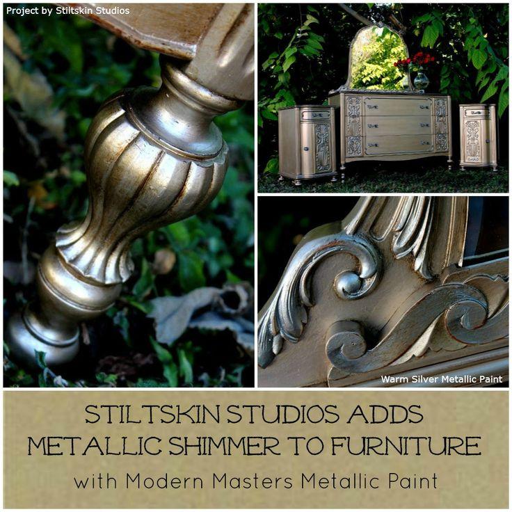 Stiltskin Studios Adds Metallic Shimer To Furniture