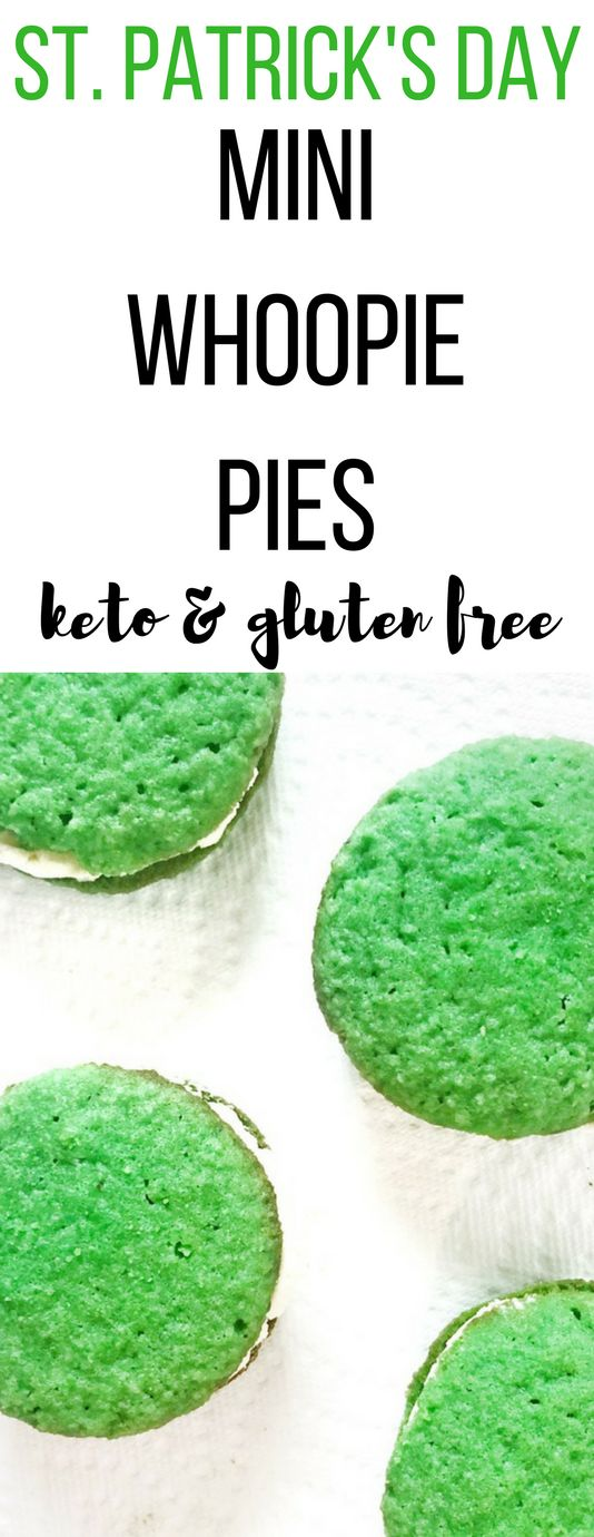 This Keto St. Patrick's Day Mini Whoopie Pies recipe is THE BEST! I'm so glad I found this amazing Keto St. Patrick's Day recipe. Now I can have a healthy dessert on St. Patrick's Day! #ketogenicdiet #ketodiet #keto #ketogenicrecipes #stpatricksday #stpaddysday