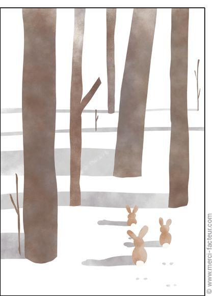 😍 Trouvez de très belles cartes à envoyer en Février ! http://www.merci-facteur.com/carte-fevrier.html #Carte #Février #montagne #lac #ski #neige #vacances #froid #saison #Hiver Carte F�vrier dans la for�t pour envoyer par La Poste, sur Merci-Facteur !
