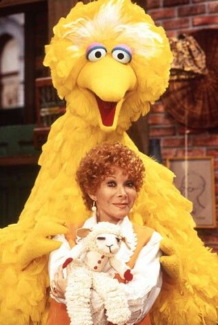 Shari and lamb chop with big bird on sesame street. Lamb chop the most loveable puppet, ever!