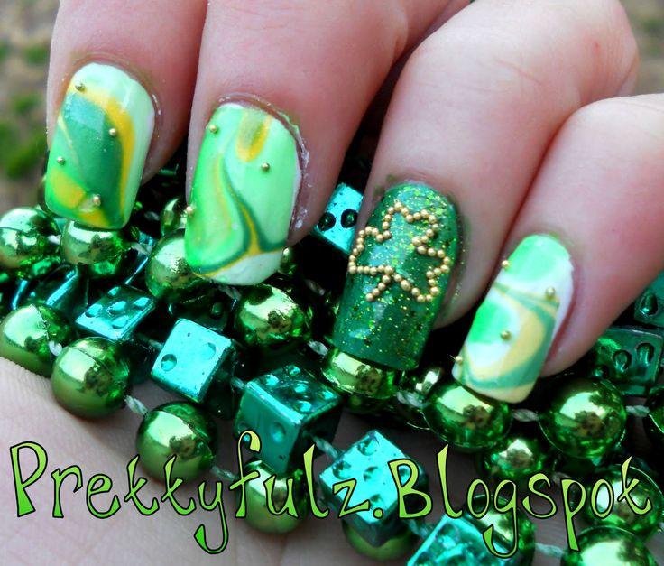 30 mejores imágenes de St. Patrick\'s Day Nail Designs en Pinterest ...
