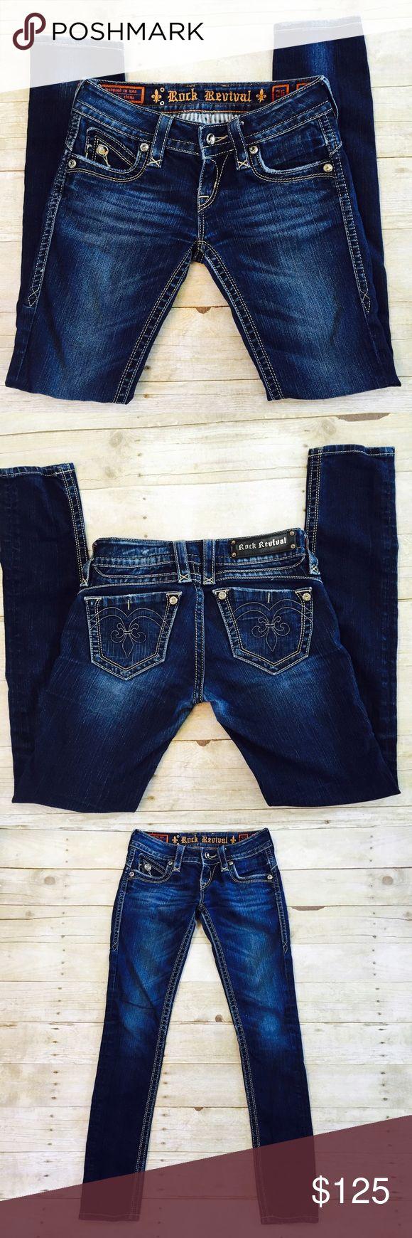 """Rock Revival Adele Skinny Jeans Rock revival skinny jeans, Adele style. Inseam 31"""". Rock Revival Jeans Skinny"""