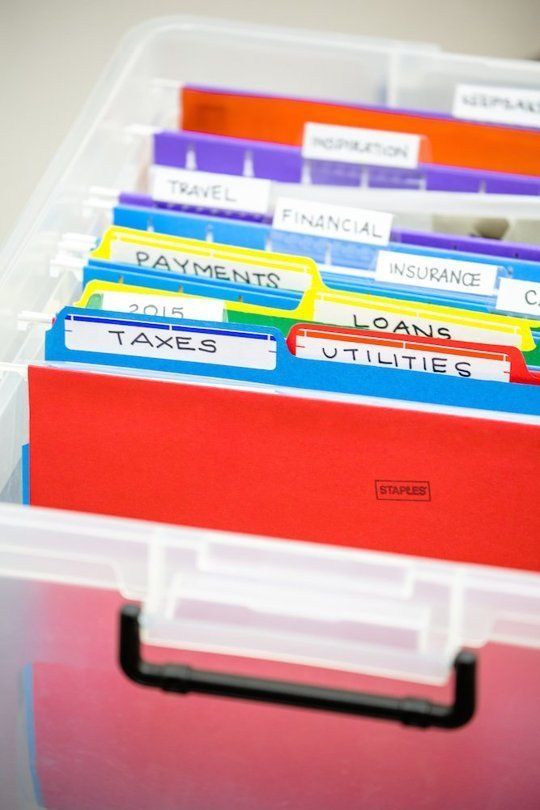 STAPLES STORAGE TIP: Pare down your papers. Clear file boxes keep your most important docs handy and organized.