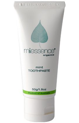 Cleanse and brighten your teeth with bicarb soda.  Freshens your breath and maintains healthy teeth and gums.  Miessence toothpastes do not contain fluoride, al