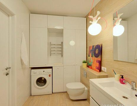 Компактная ванная. Квартира от Татьяны Пичугиной. #дизайнинтерьера #igenplan #дизайнквартиры  #интерьерквартиры