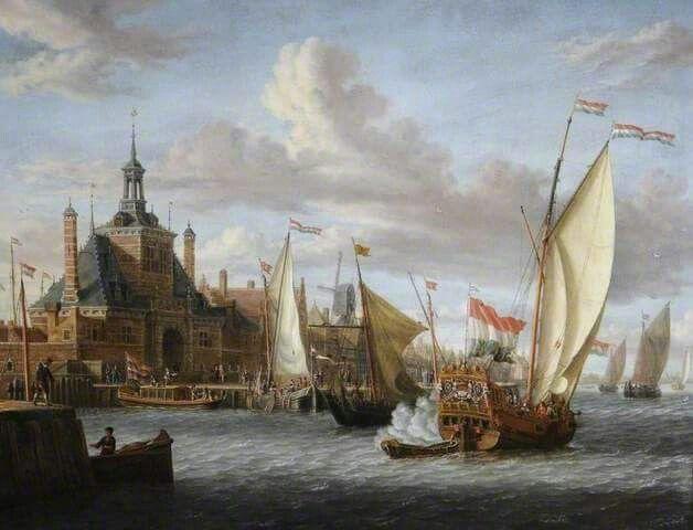 Die skildery wys baie akkuraat hoe dit in Amsterdam hawe moes gelyk het toe Guillaume en Jeanne op die skip, die De Schelden geklim het om Kaap toe te vaar en ons hier te vestig... Verbeel jou die opgewondenheid/angs/stres...ABOUT THIS ARTIST Jacobus Storck 1641–c.1692 Nationality: Dutch