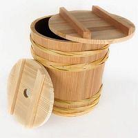 桶職人が作った手作り木桶 味噌作り用