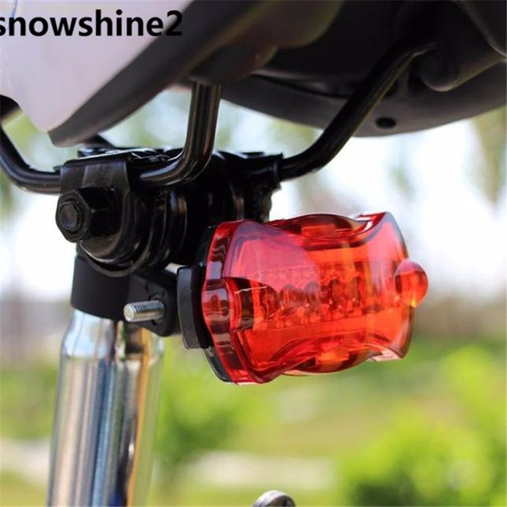 snowshine2#3001  Bicycle Bike Cycling 5 Led Tail Rear Safety Flash Light Lamp Red With Mount free shipping wholesale
