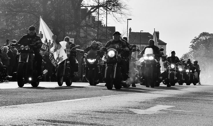 Out of the smoke - armed forces bikers remembrance sunday 2016