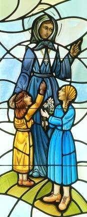 Marguerite Bourgeoys - Vitrail de l'église Ste Marguerite Bourgeoys à Brookfield (U.S.A.) Stained glass from St. Marguerite Bourgeoys Church in Brookfield, USA