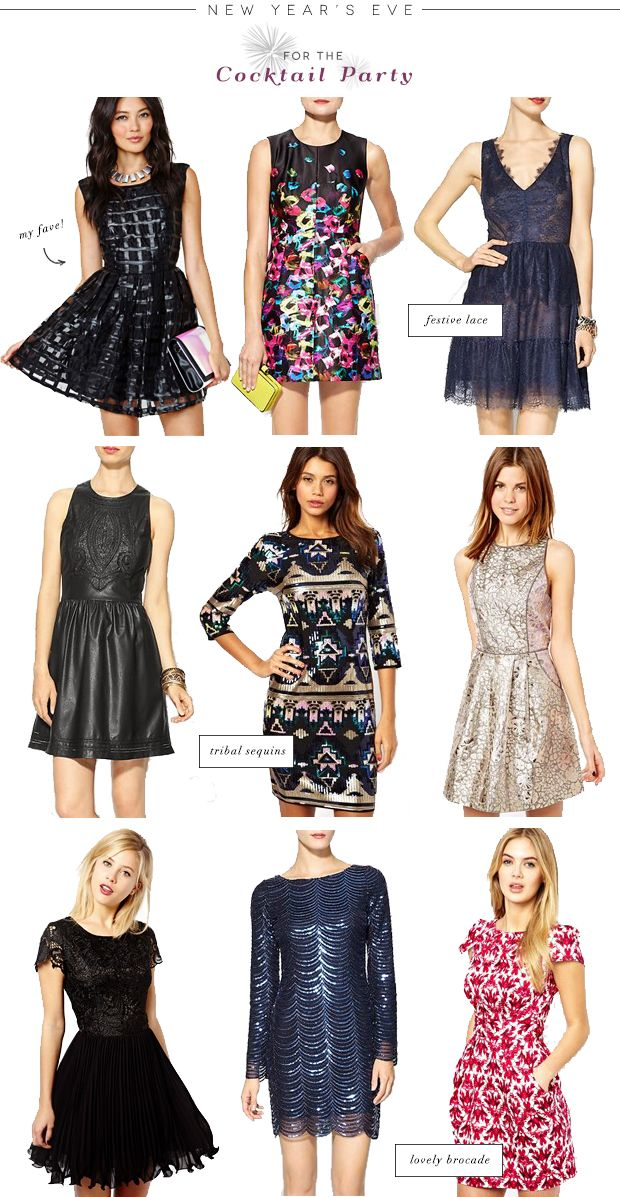 Ordinary Holiday Party Cocktail Dresses Part - 3: New Years Style: For The Cocktail Party
