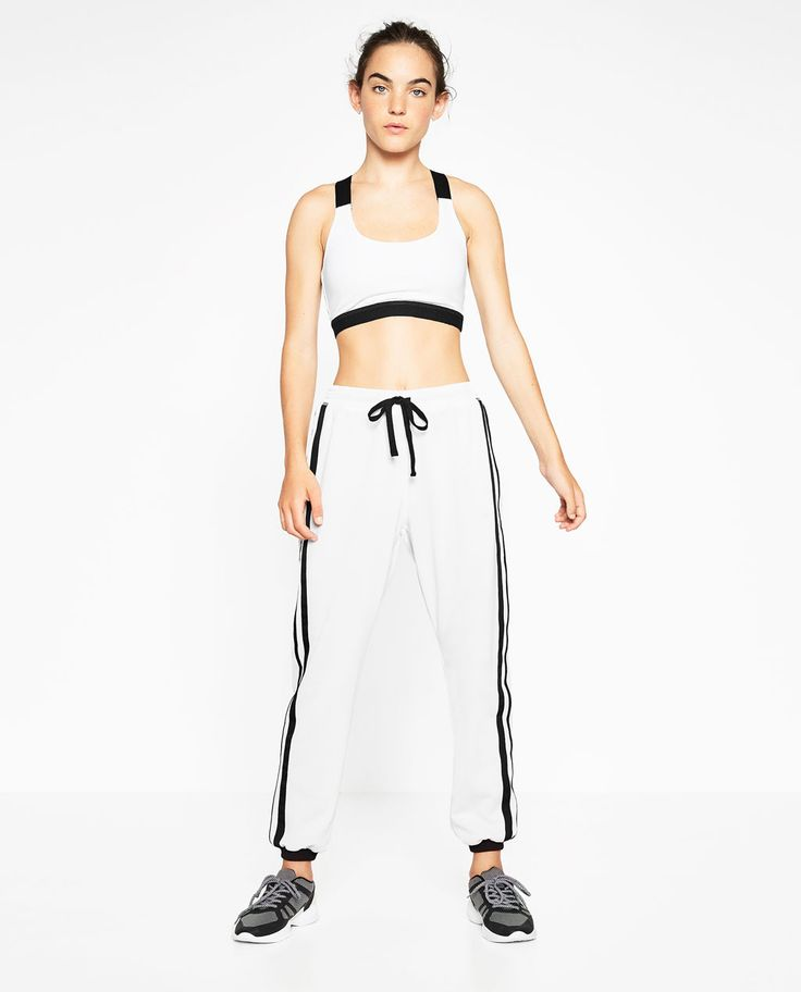 Image 1 of STRIPED JOGGING TROUSERS from Zara