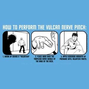 How to do the vulcan nerve pinch