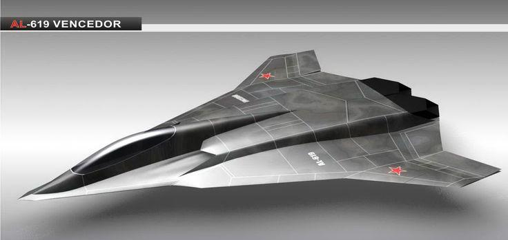 Russian jet fighter concept AL-619 Vencedor [1548 x 736 ...