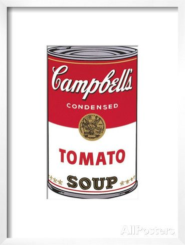 Campbell's Soup I: Tomato, c.1968 Art by Andy Warhol at AllPosters.com