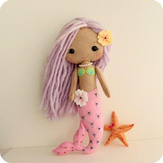 Gingermelon mermaid doll