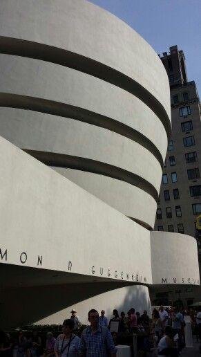 Guggenheim Museum. Art holding art