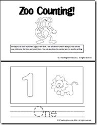 """""""Zoo Counting"""" Booklet"""