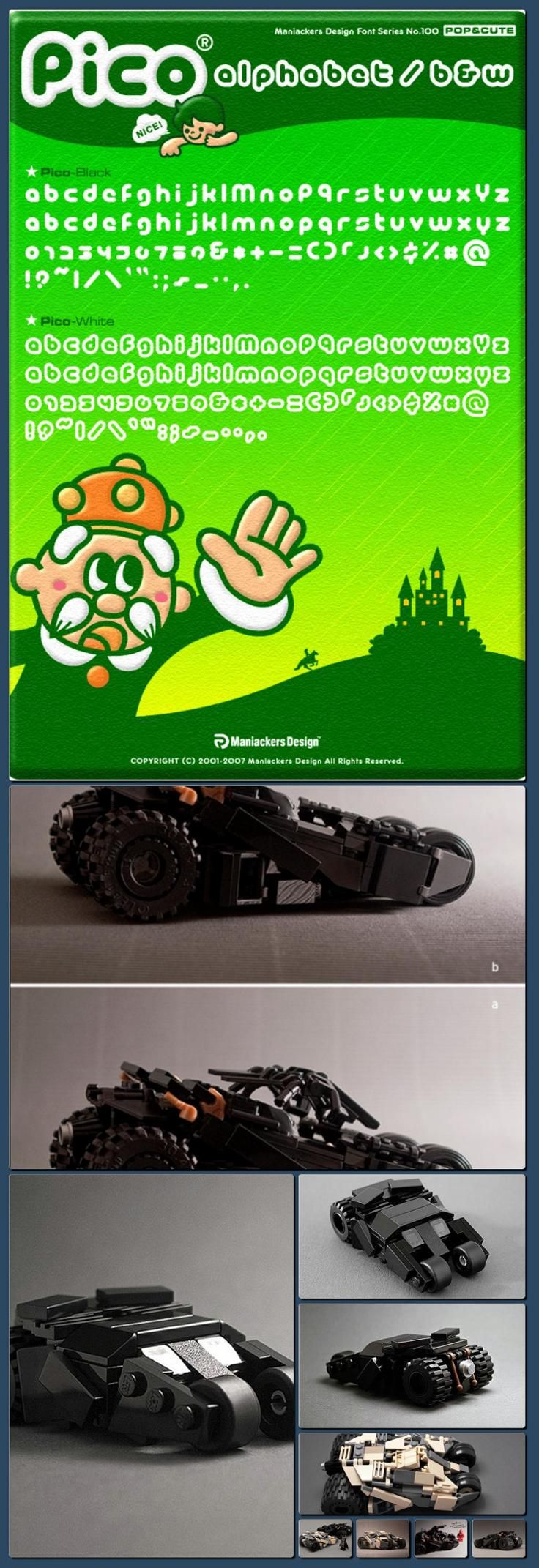 Probably The Coolest & Smallest Batman LEGO Tumbler Replica Ever [Collage made with one click using http://pagecollage.com] #pagecollage