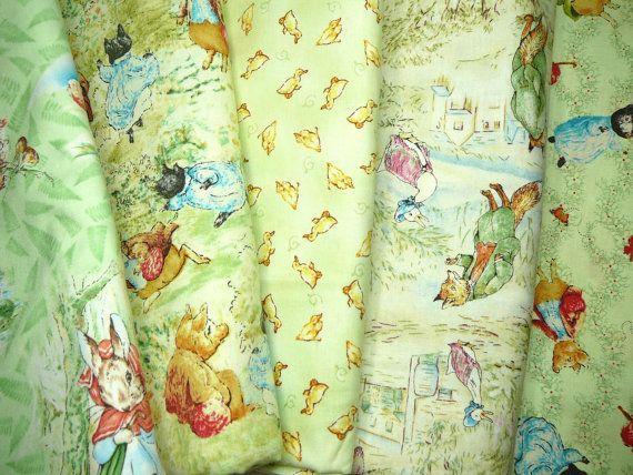Beatrix Potter Fabric Yard Lot By Scarlettscozycottage