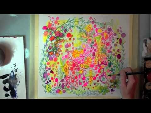 """a collaborative painting by artists stephanie corfee and traci bautista sharing techniques from their new books. Stephanie's book Creative Doodling and Beyond and Traci's book Doodles Unleashed. This video is to celebrate the release of both books. Enjoy the inspiration!  music """"gypsy summer"""" & """"love & liberete"""" by gypsy kings    find more info her..."""