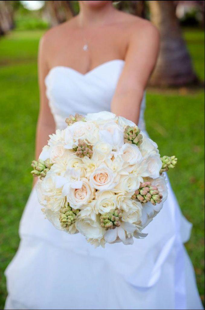 Wedding Bouquet- roses, tuberose, gardenias
