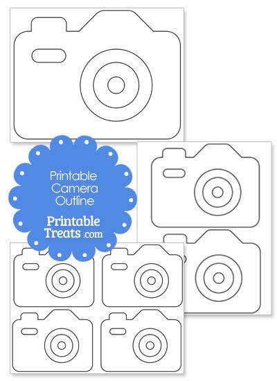Printable Camera Outline from PrintableTreats.com