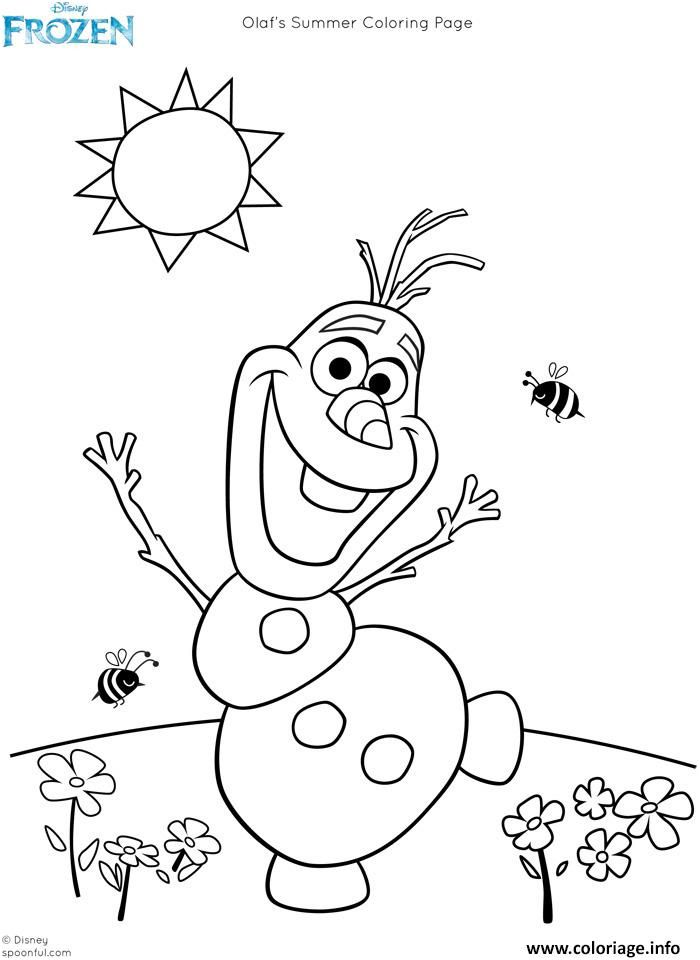 Frozen Para Colorear Olaf