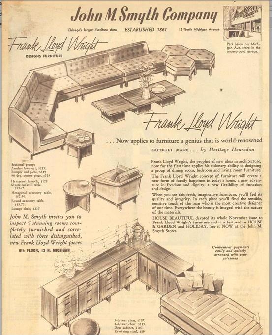 1955 flw henredon taliesin ad