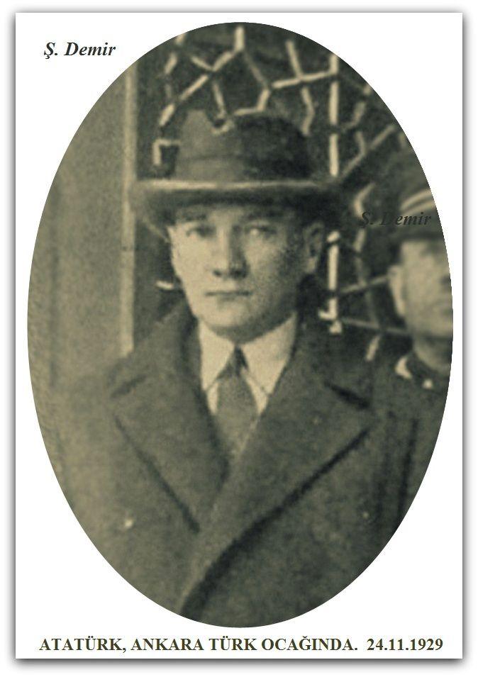 Atatürk Ankara Türk ocağı. 24.11.1929