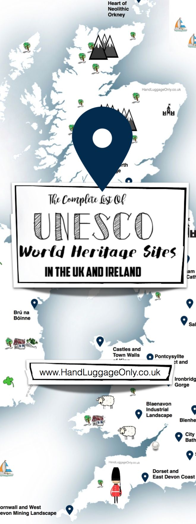 THIS MAP SHOWS YOU WHERE TO SEE EVERY UNESCO WORLD HERITAGE SITES IN THE UK AND IRELAND... ...Sometimes it's easy to forget what's right on our doorstep – especially when there are so many beautiful and world-renowned historic sites that are only a stone's throw away!