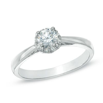 0.50 CT. T.W. Certified Canadian Diamond Engagement Ring in 14K White Gold (H-I/I1)