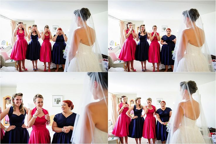 Bridesmaids in Circle dresses at a Glendorgal Hotel Wedding