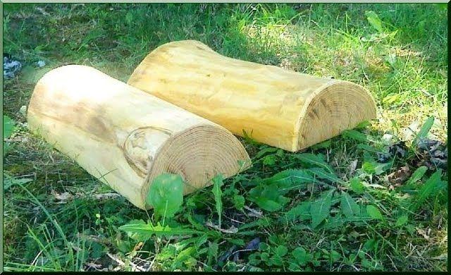 Holz Stützmauer