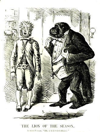 19th century 'evolution' cartoon. We've learned a lot since then.