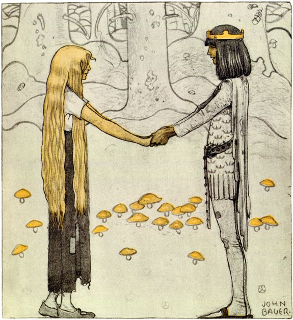 John Bauer: 'The Prince without a Shadow'ю 'Prinsen utan Skugga' by Jeanna Oterdahl. From: 'Bland Tomtar och Troll', 1910: