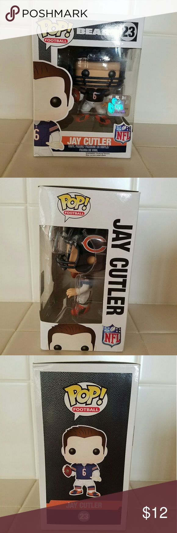 Funko Pop NFL Football Jay Cutler #23 Box has a small bent at the corners Other