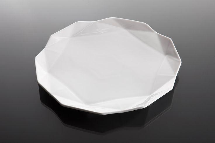 Serve your afternoon tea on this stunning geometric dessert plate. Available in set of four or six. www.lauriger.com