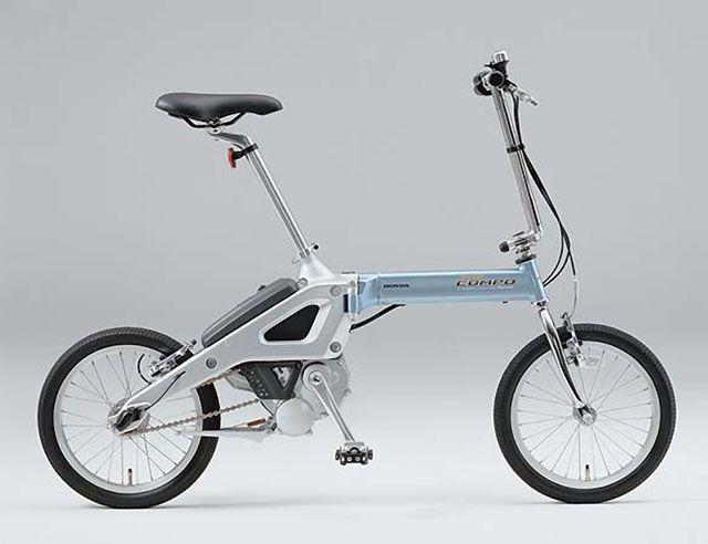 Honda folding electric bike with mid drive hub motor.