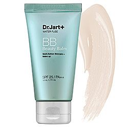 Sephora: Dr. Jart+ : Water Fuse Beauty Balm SPF 25 PA++ : bb-cc-cream-skincare No oil or fragrance; reviewers said it didn't make even sensitive skin break out. This looks like a winner to try.