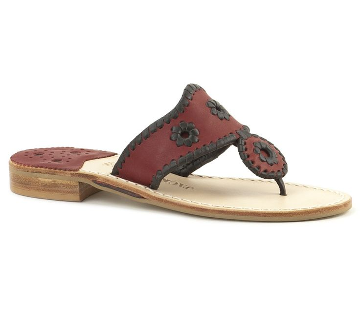 Jack Rogers College Colors - Garnet & Black @Mitchell Weinstein of South Carolina #gamecocks #shoes