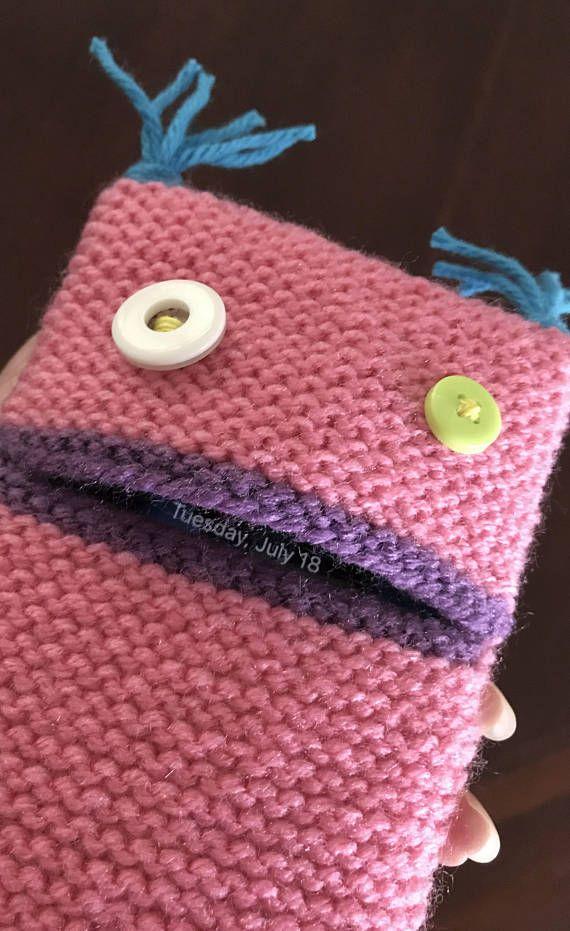 Ready To Ship Hand Knitted Monster Cell Phone Case for iPhone