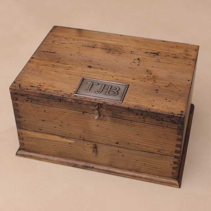 Personalized Rustic Men's Watch Box for 8 by OurWeddingInvites, $149.00