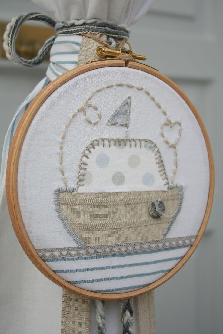 Συλλογή Βάπτισης Ανέμελο Καραβάκι #Λαμπάδα  #Baptism #Christening Candle #Lambada #Baptism Lambatha #Greek Orthodox Baptism/Christening #Linen Candle #Boat  Embroidery Hoop #Linen Boat #Boat Embroidery Hoop Baptism Set