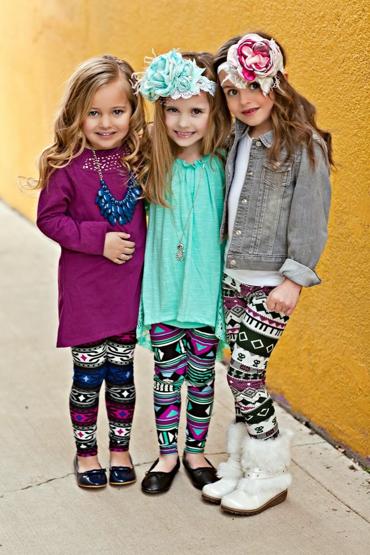 little leggings! The makeup on these girls are NOT ok. The outfits are too cute though!