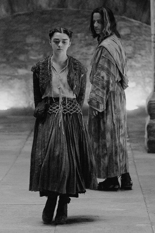 Arya Stark Jaqen Hghar