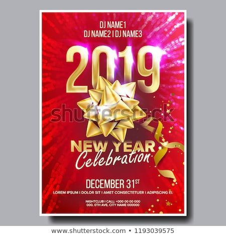 happy new year night club celebration musical concert banner design illustration
