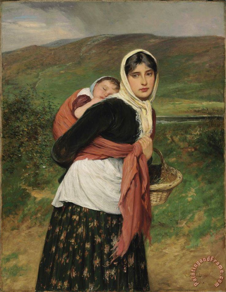 Returning From Market Painting by Charles Sillem Lidderdale