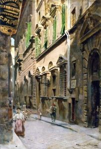 Toscane, Florence, Borgo degli Albizi, par Telemaco Signorini