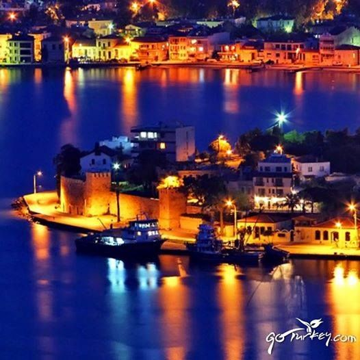 Foça ..  located in Izmir province .. turkey